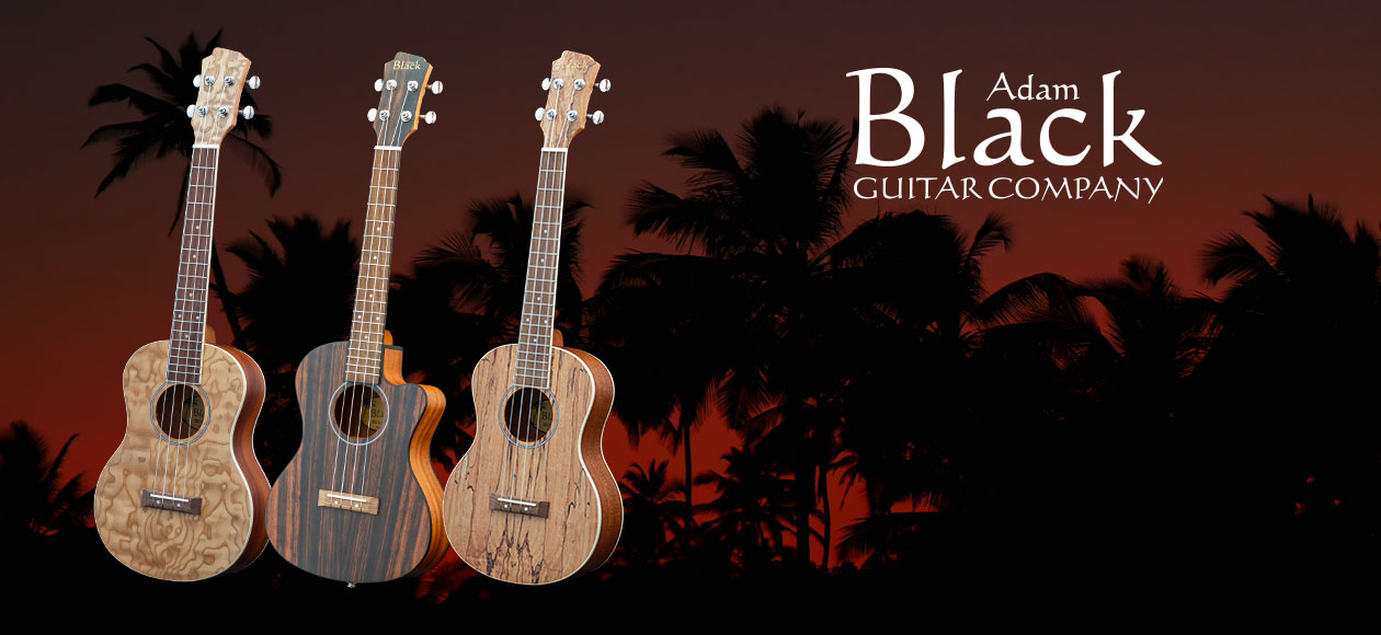 New range of Soprano, Concert and Tenor Ukuleles with Quilted Ash, Striped Ebony or Spalted Maple tops!