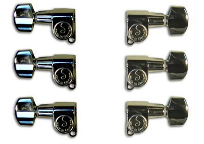 Rickenbacker Part 00525 - M6 Mini Machine Head Set Chrome