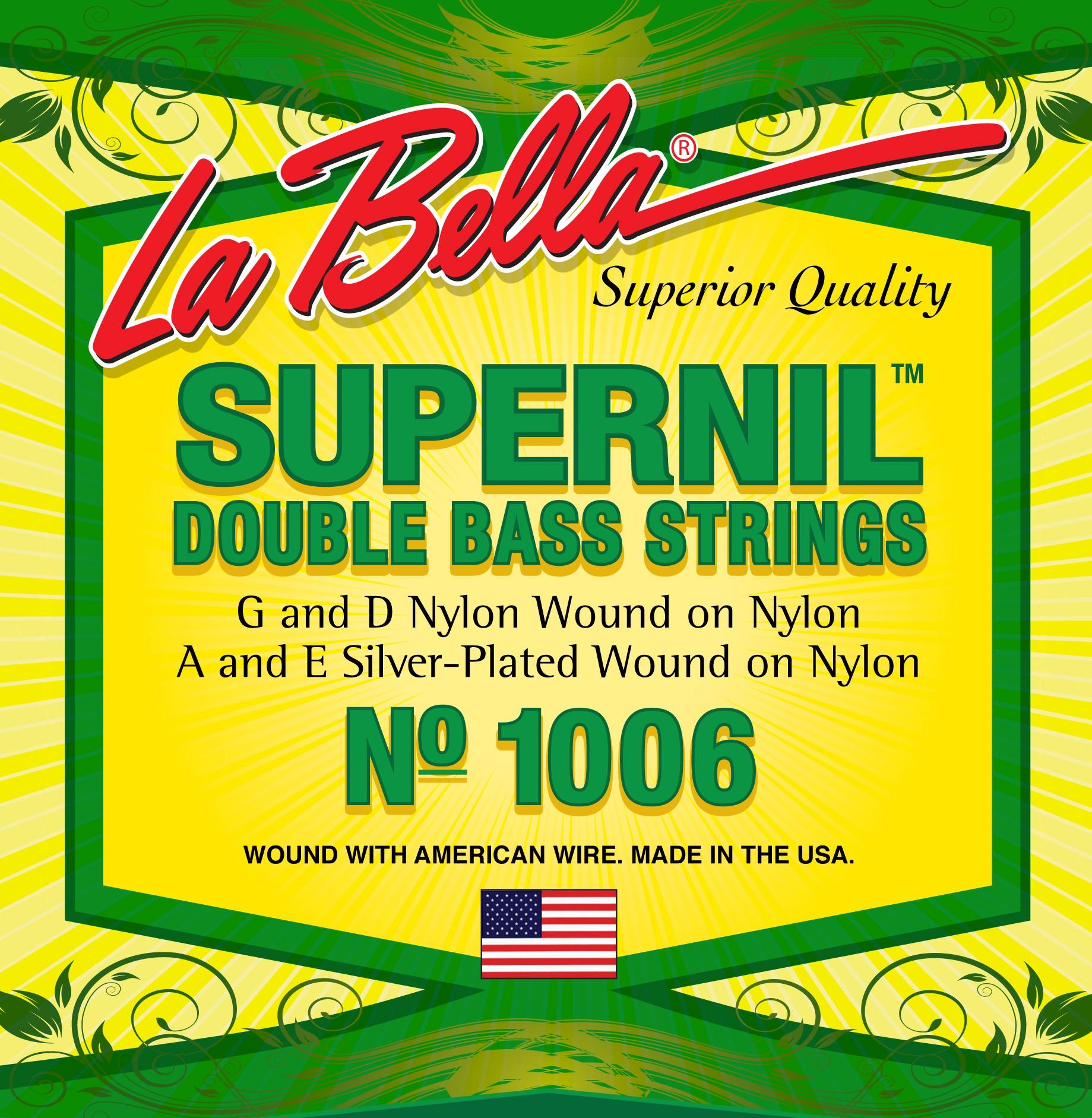 La Bella Double Bass Strings - Supernil Series