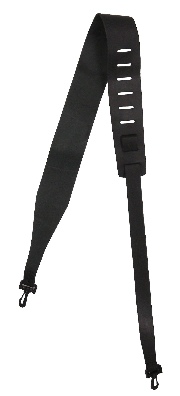 D'Andrea Leather Banjo Strap - Black