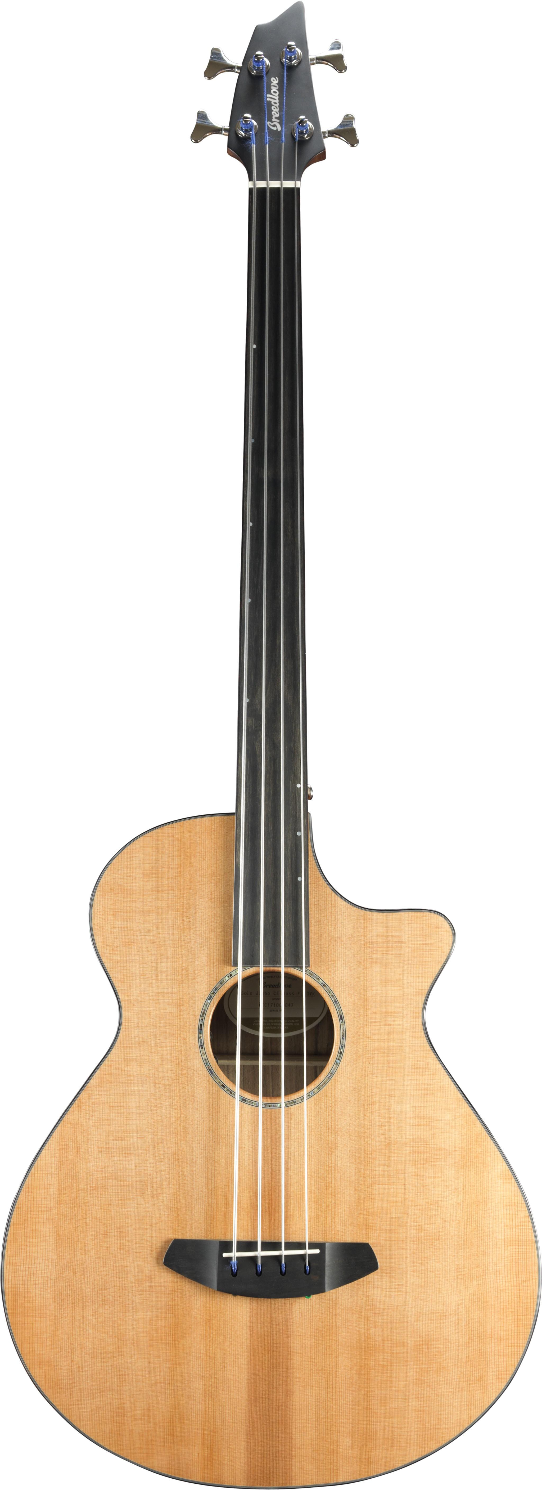 Breedlove Solo Jumbo Fretless Bass CE