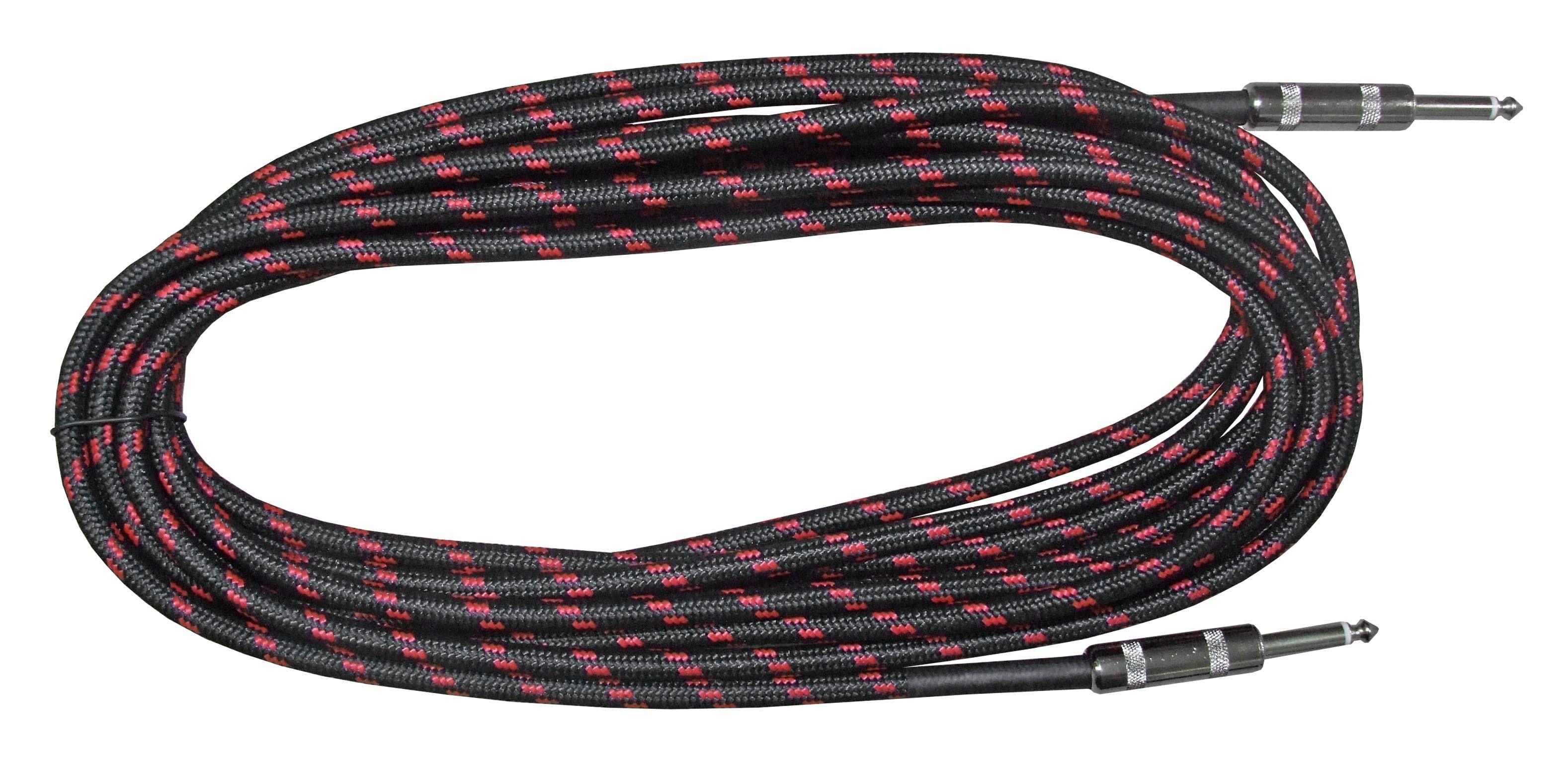 "Rosetti Guitar Cable 1/4"" Straight Jacks - 20' Braided"