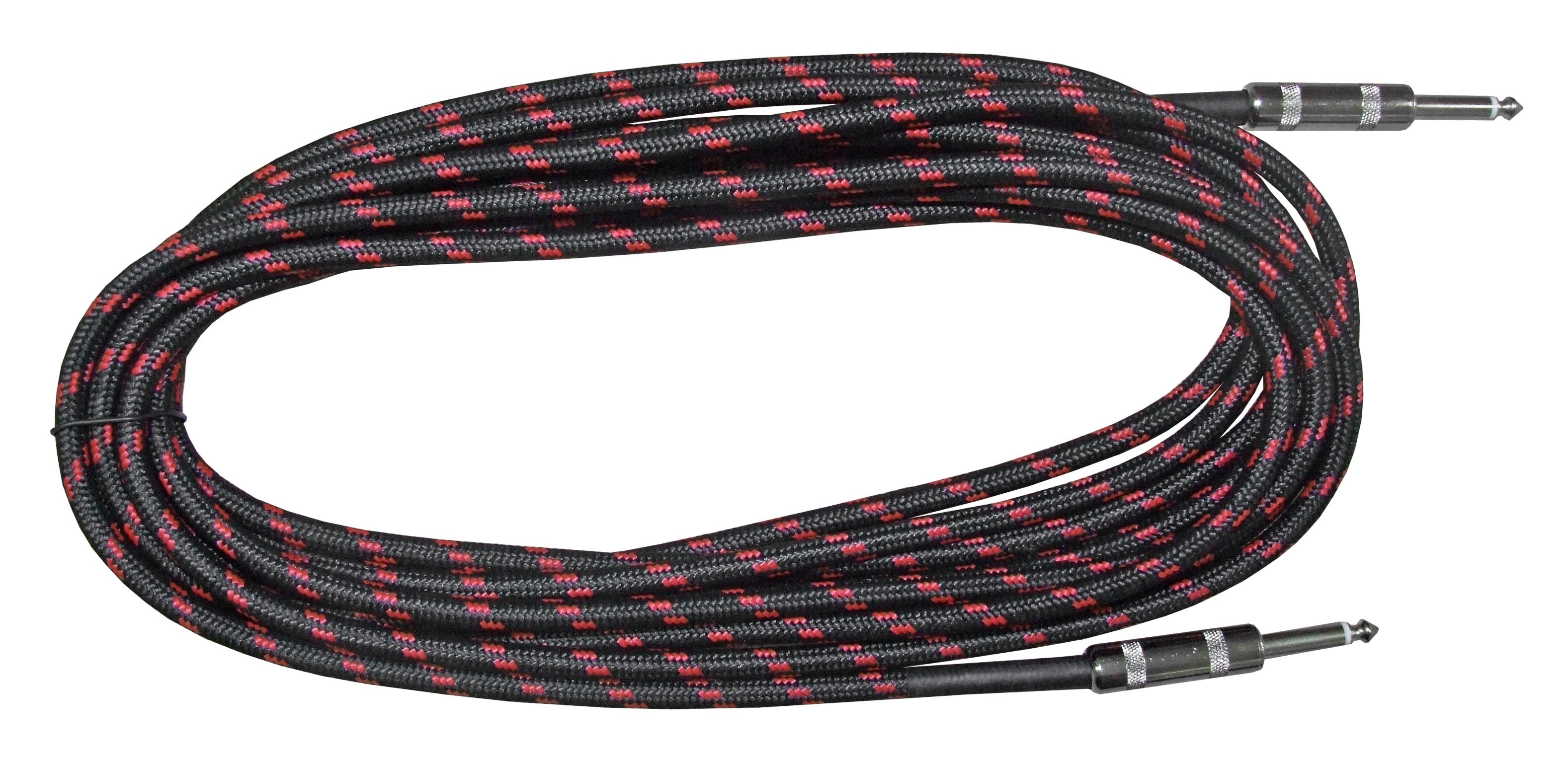 "Rosetti Guitar Cable 1/4"" Straight Jacks - 10' Braided"