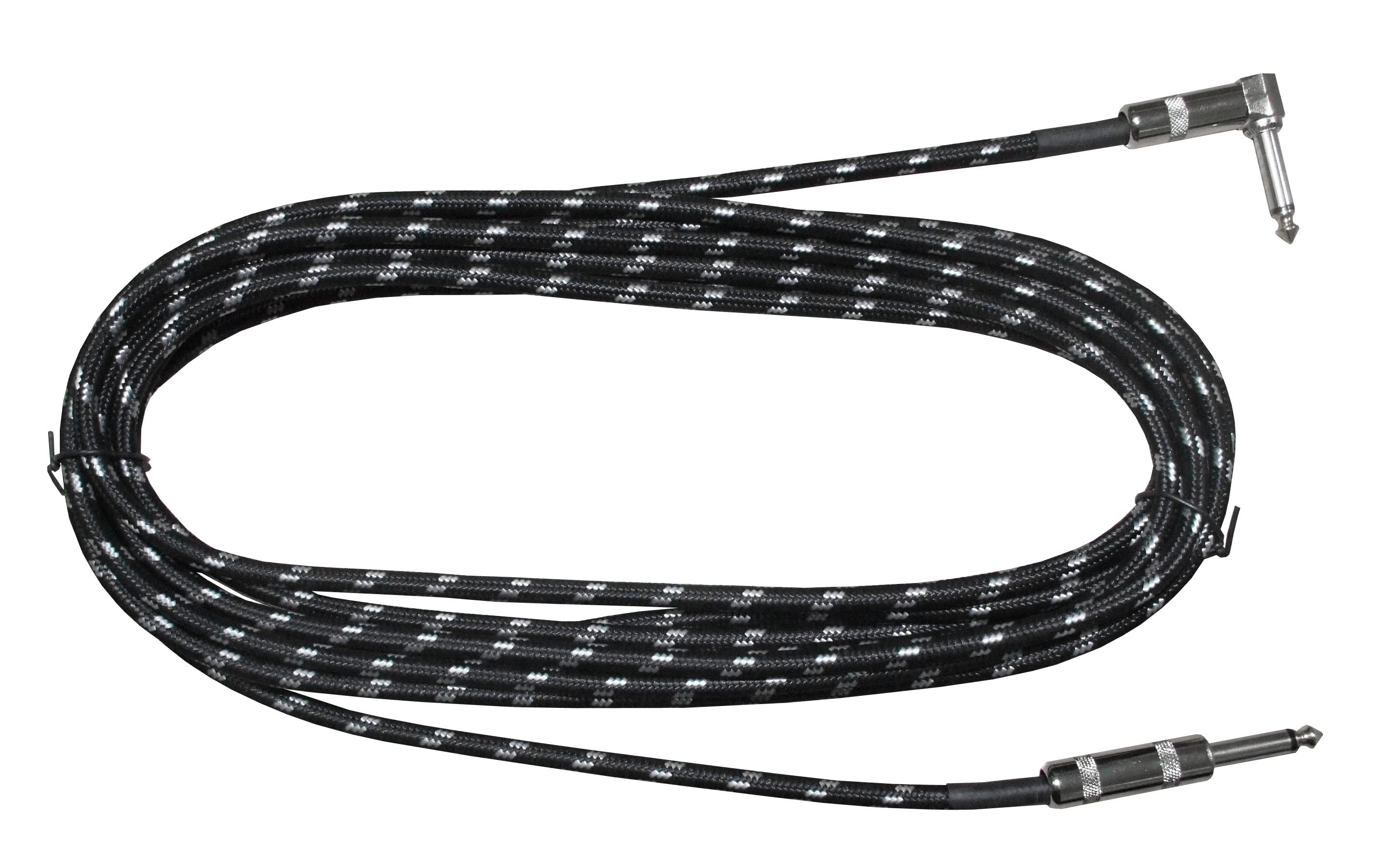 "Rosetti Guitar Cable 1/4"" Straight/Angled Jacks - 10' Braided"