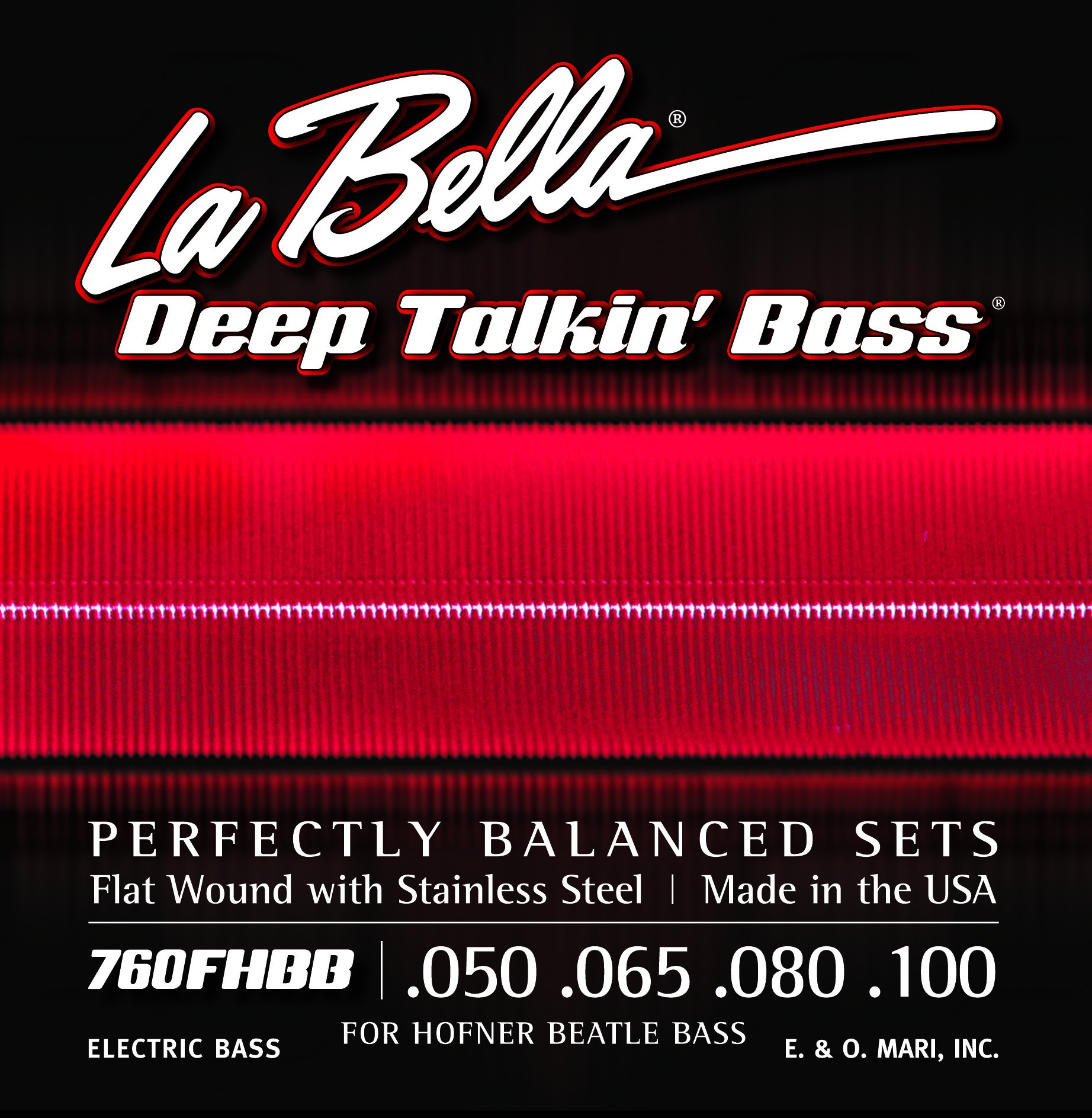 "La Bella Bass Guitar Strings - Hofner ""Beatle"" Deep Talkin' Bass Series"