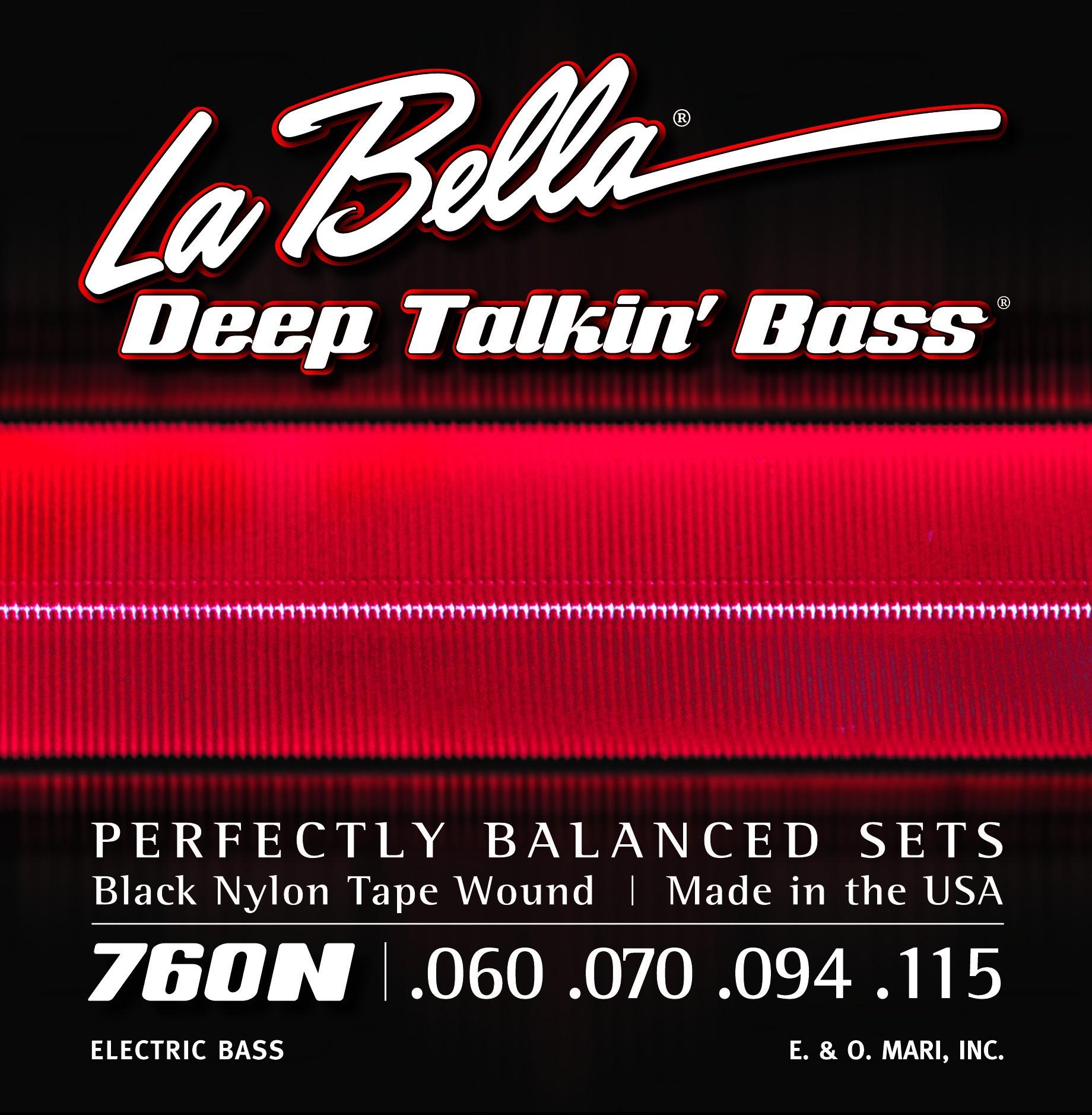 La Bella Bass Guitar Strings - Nylon Tape Wound