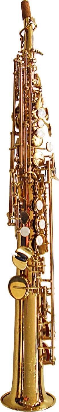 Rosetti Series 5 Straight Soprano Saxophone Outfit - Lacquer