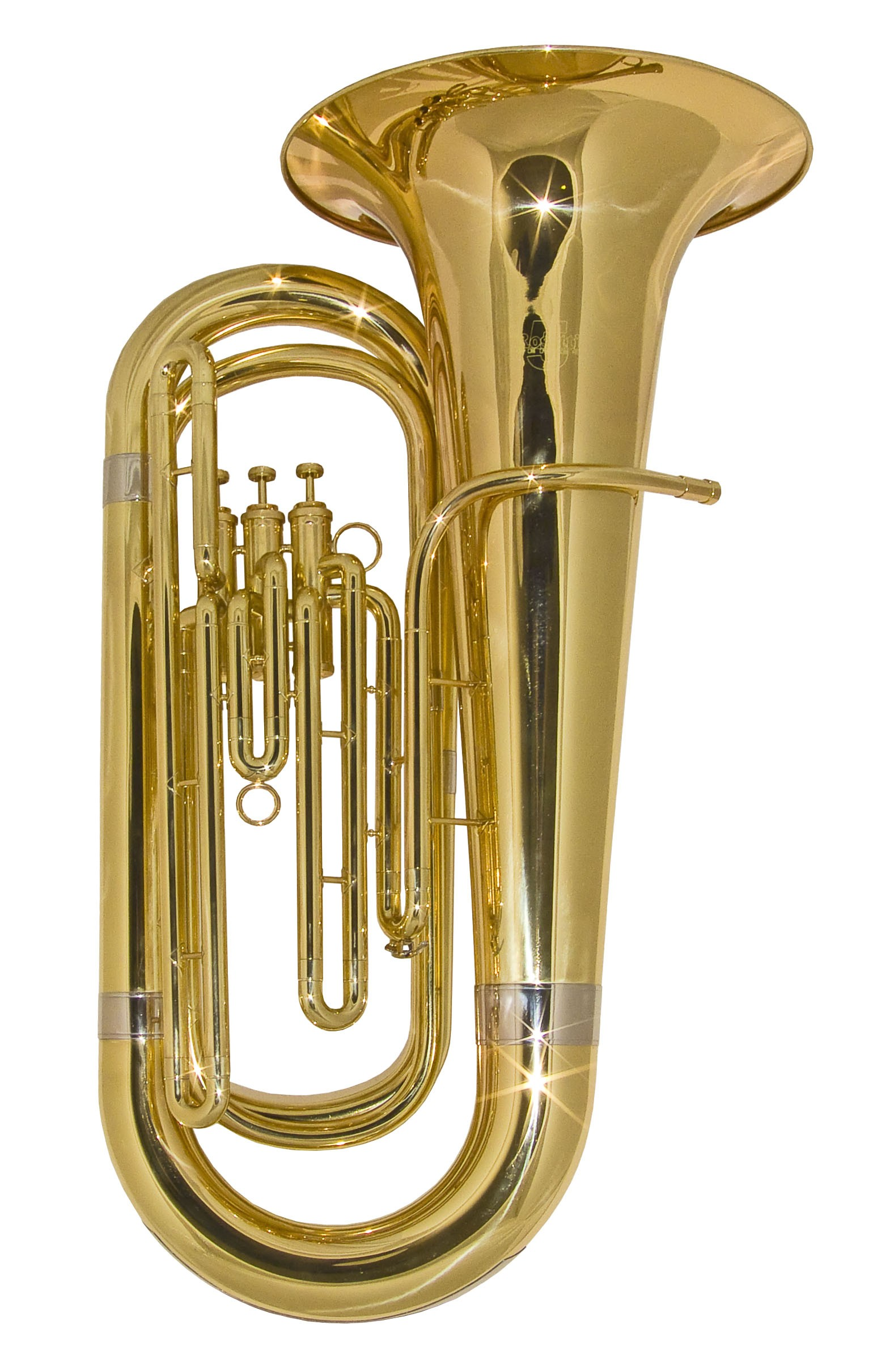 Rosetti Series 5 Compact 3-Valve Bb Tuba Outfit - Lacquer