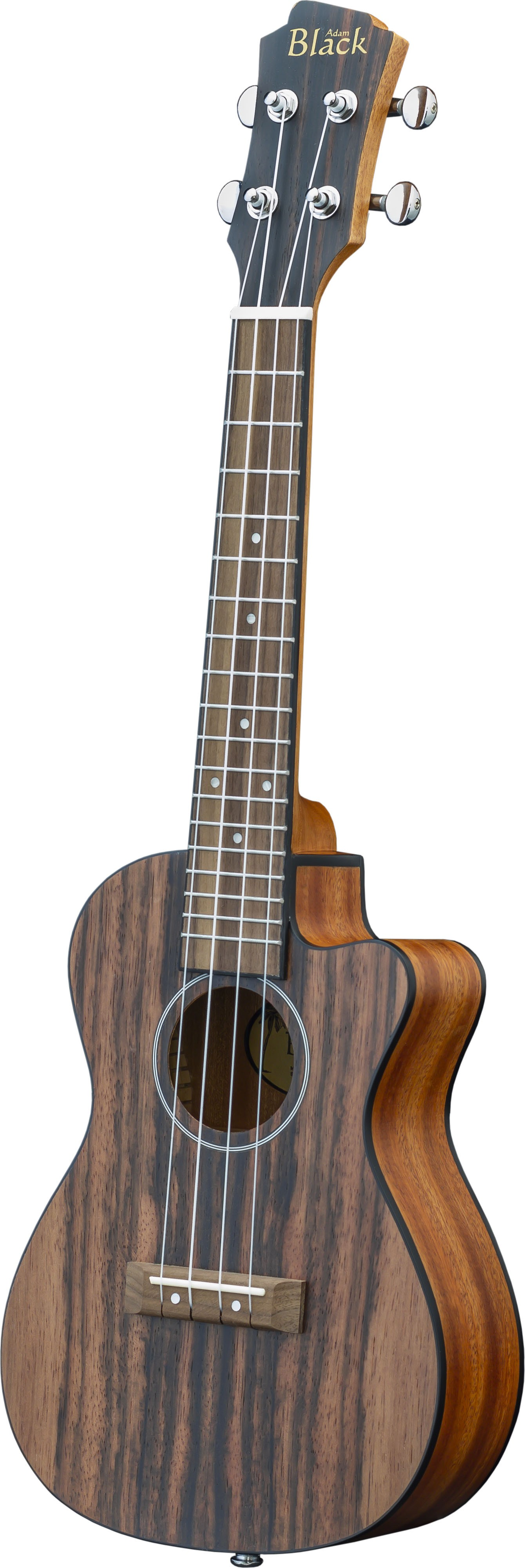 Adam Black Exotic Wood Series Concert CE Ukulele - Striped Ebony