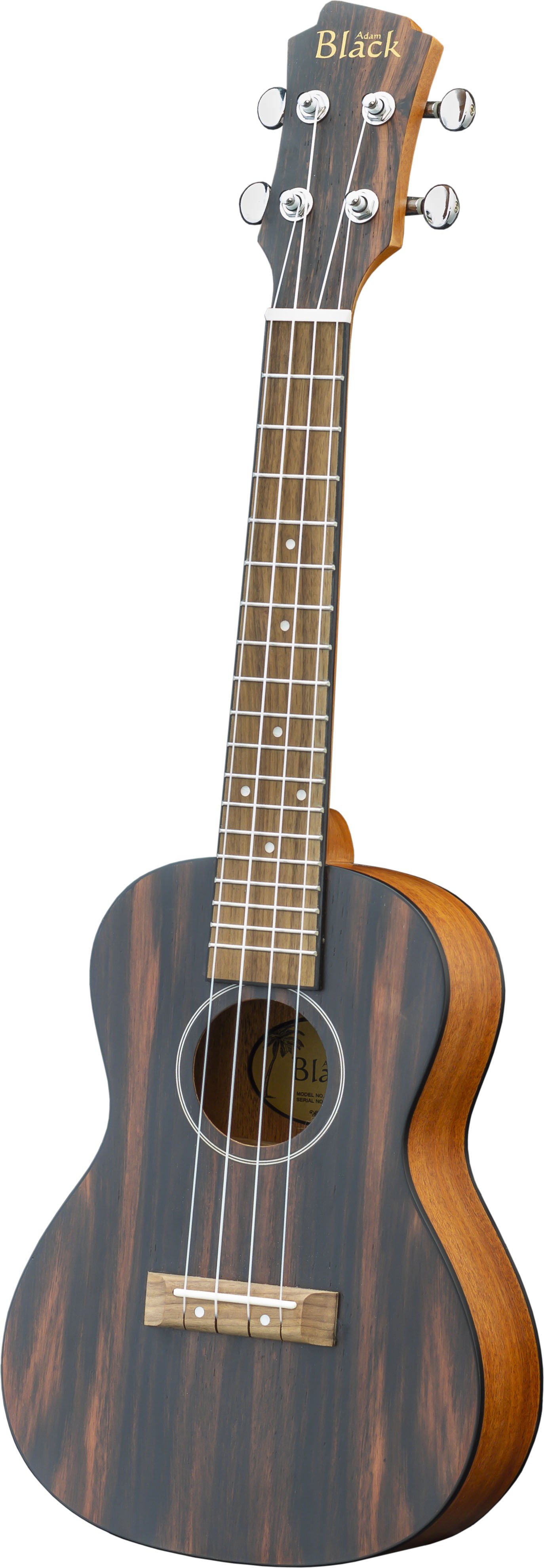 Adam Black Exotic Wood Series Concert Ukulele - Striped Ebony
