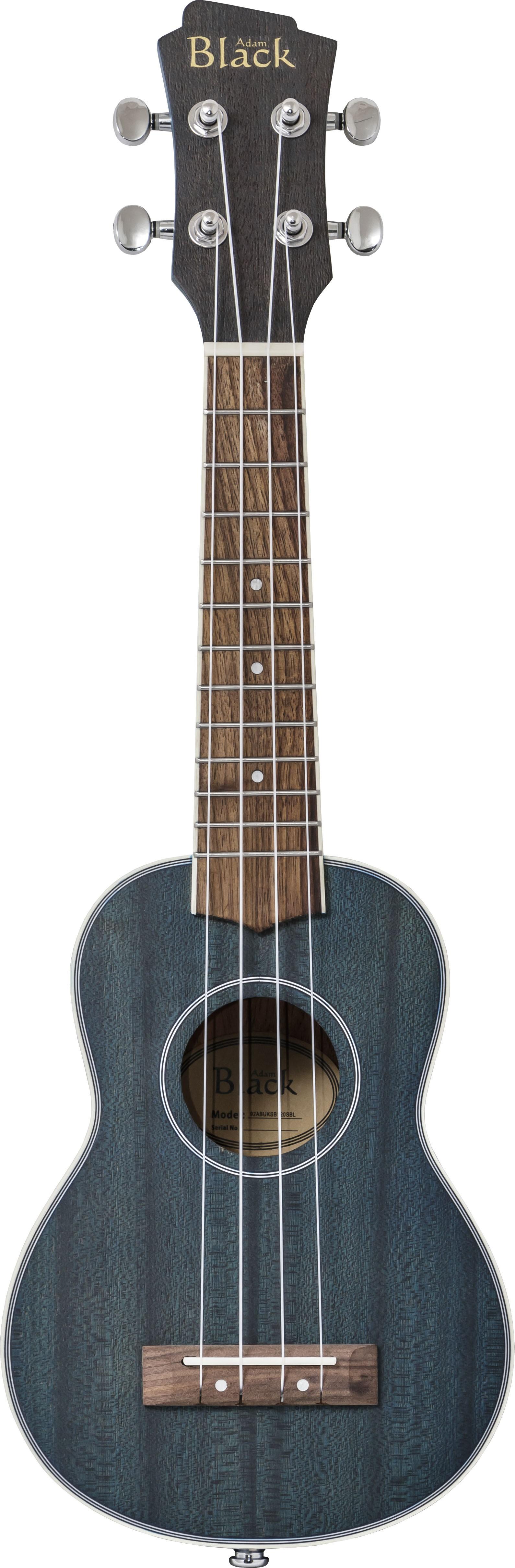 Adam Black SB120 Electro Soprano Ukulele - Trans Blue
