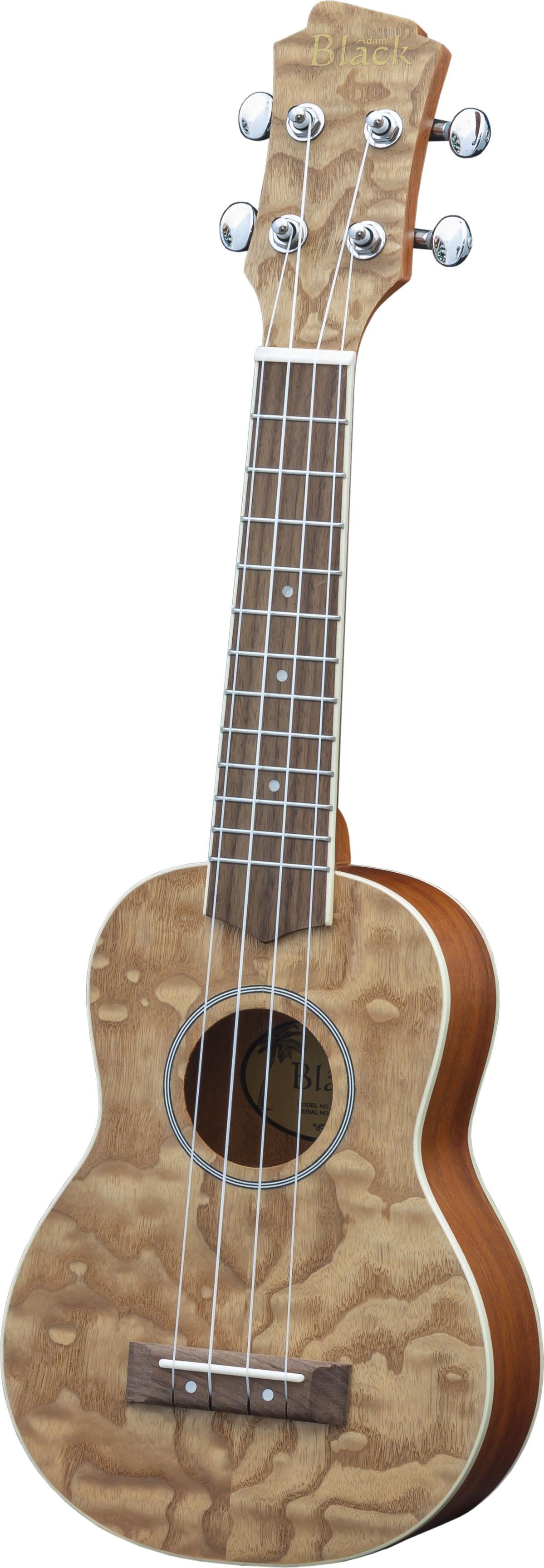 Adam Black Exotic Wood Series Soprano Ukulele - Quilted Ash