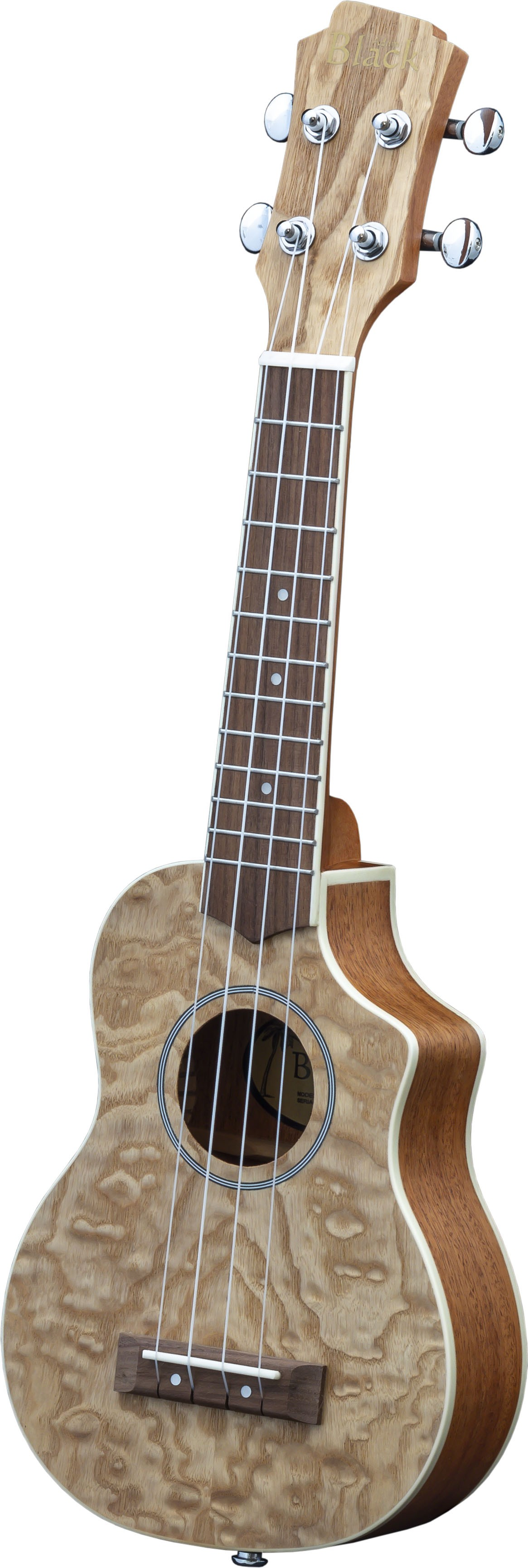 Adam Black Exotic Wood Series Soprano CE Ukulele - Quilted Ash