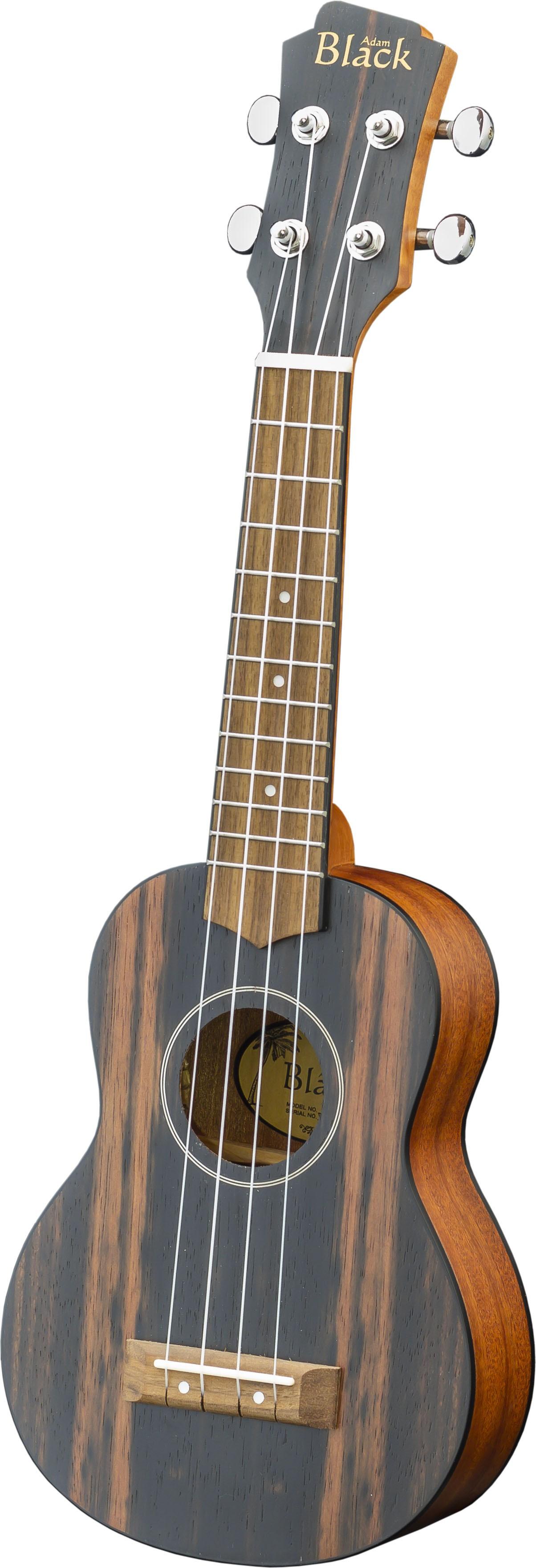 Adam Black Exotic Wood Series Soprano Ukulele - Striped Ebony