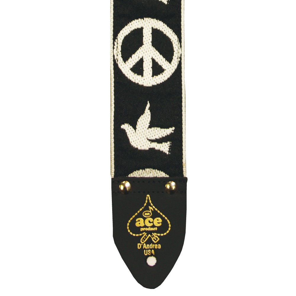 D'Andrea 2 Inch ACE Vintage Reissue Strap - Peace & Dove