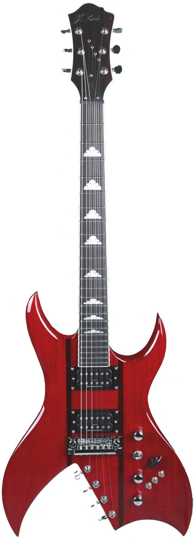 "B.C. Rich Rich ""B"" (Bich) Legacy Perfect 10 - Trans Red"