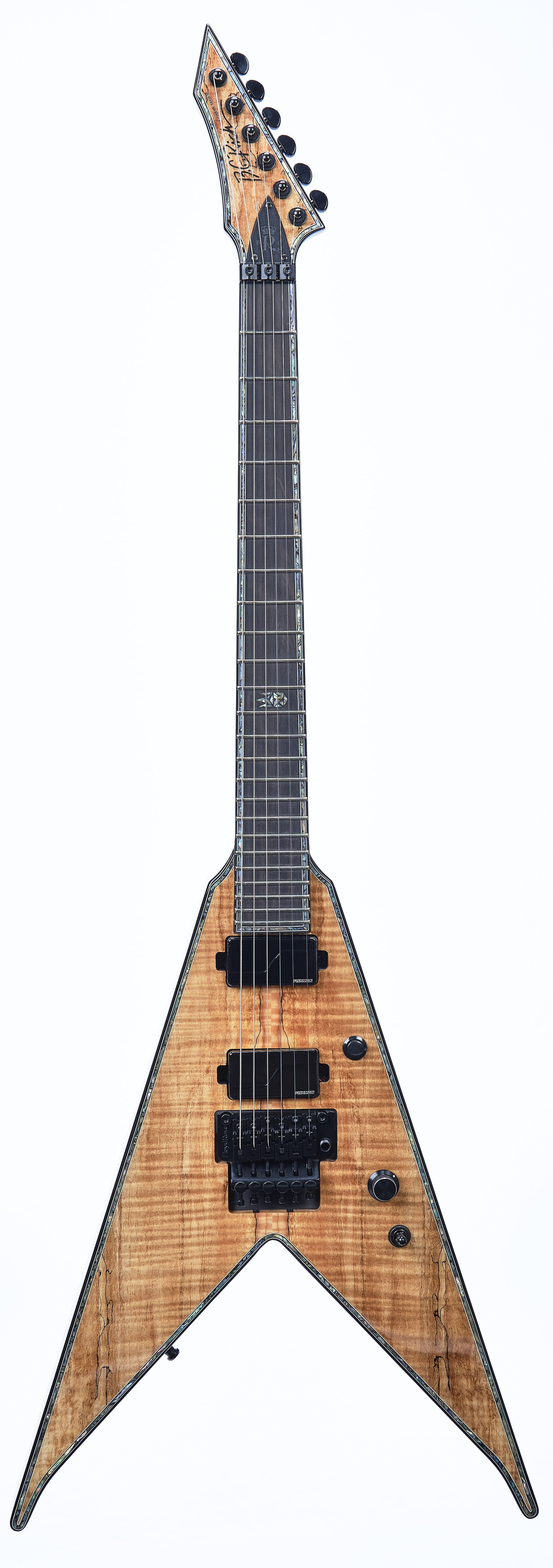 B.C. Rich Jr. V Extreme Exotic with Floyd Rose - Spalted Maple