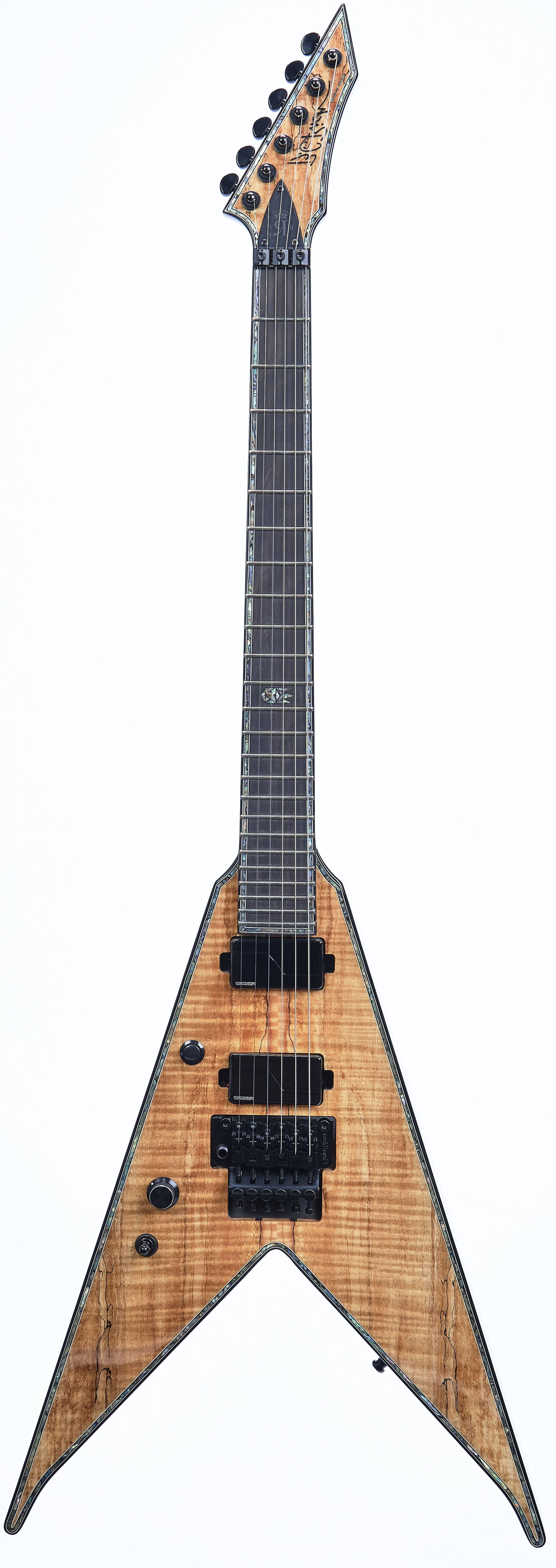 B.C. Rich Jr. V Extreme Exotic with Floyd Rose Left Hand - Spalted Maple