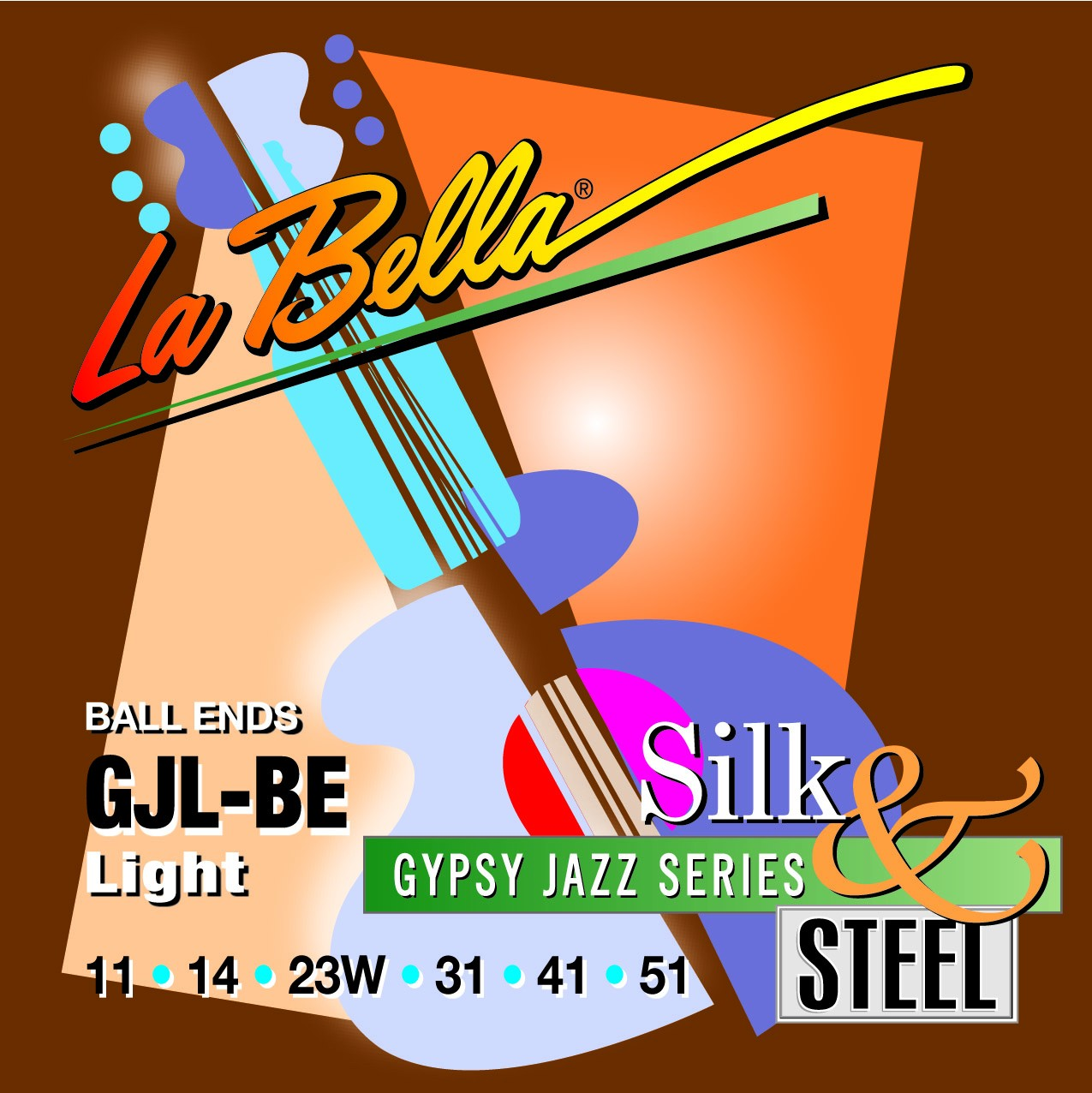La Bella Jazz Guitar Strings - Gypsy Jazz Silk & Steel Series