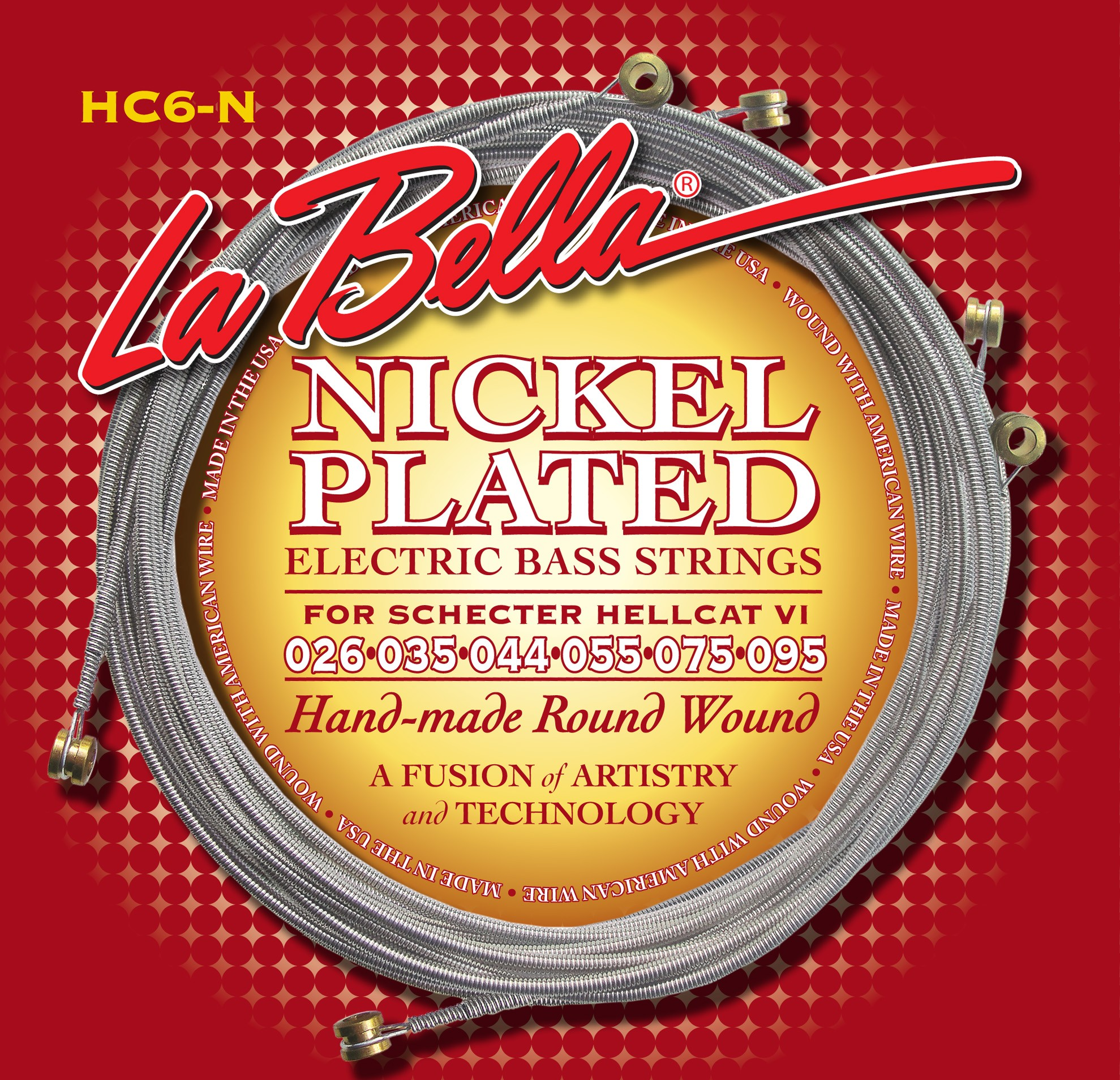La Bella Electric Guitar Strings - Hellcat VI Baritone Series