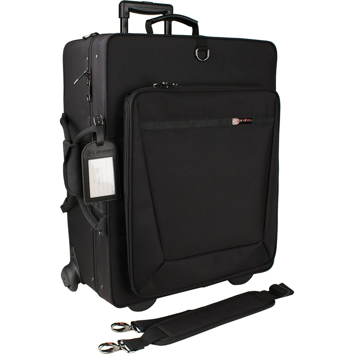 Protec Quad Horn IPAC Case with Wheels (IP301QWL)