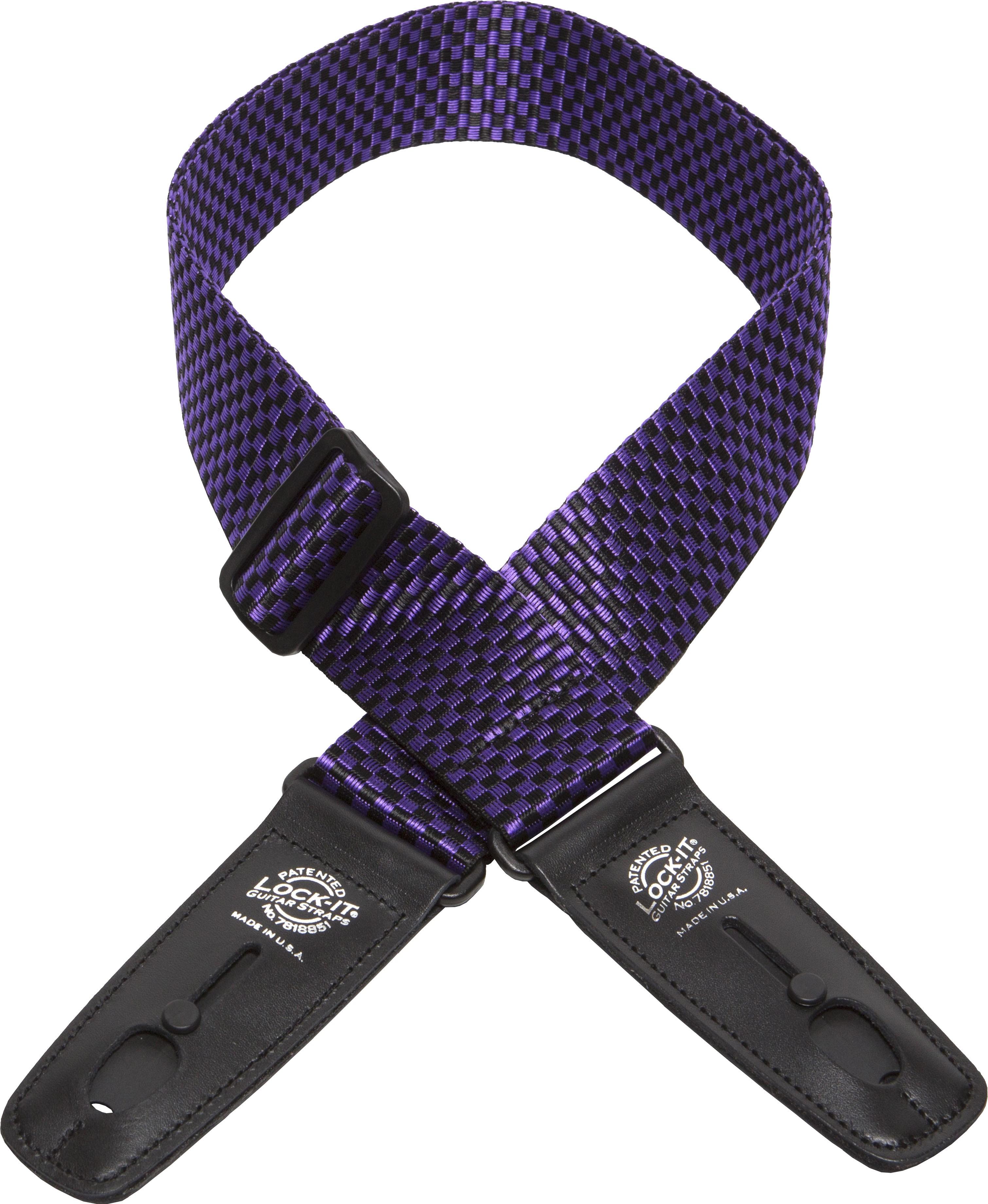 Lock-It 2 Inch PolyPro Strap - Purple Check