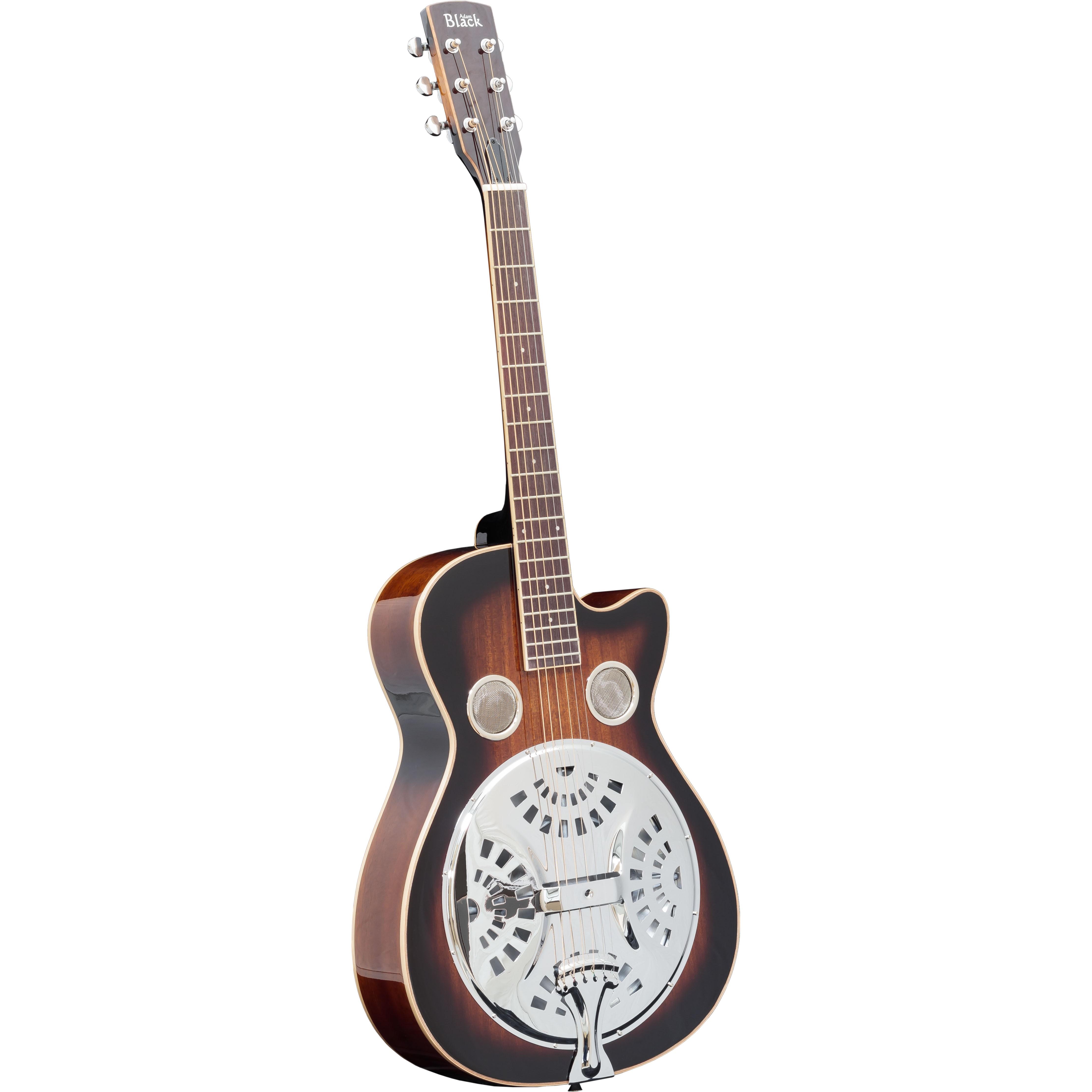 Adam Black R-02 Resonator Guitar with Gigbag - Vintage Sunburst