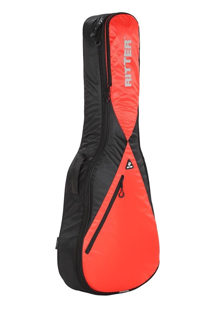 Ritter RGP5-D/BRR Dreadnought Acoustic Bag - Black/Racing Red