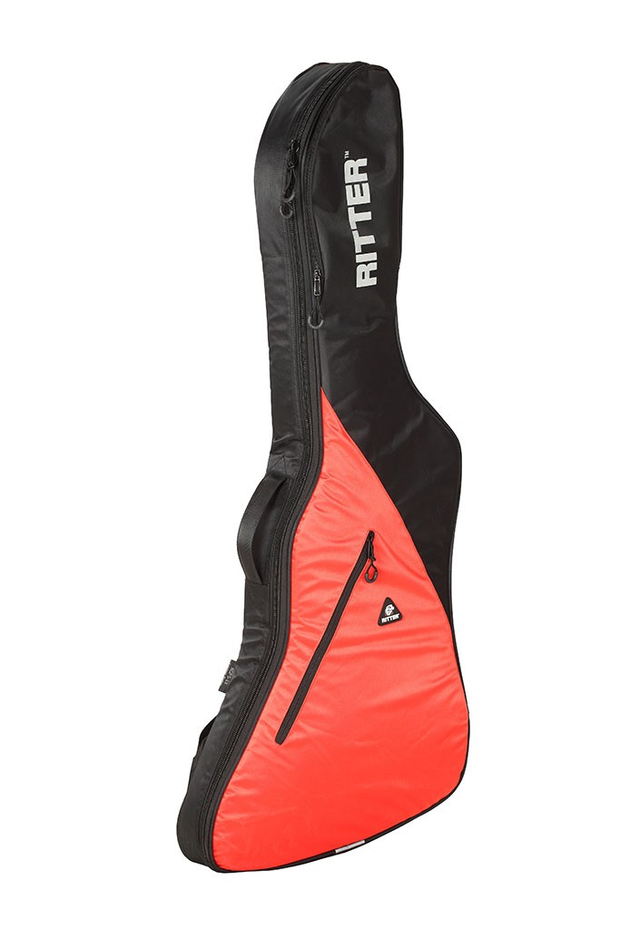 Ritter RGP5-EX/BRR Explorer Style Guitar Bag - Black/Racing Red