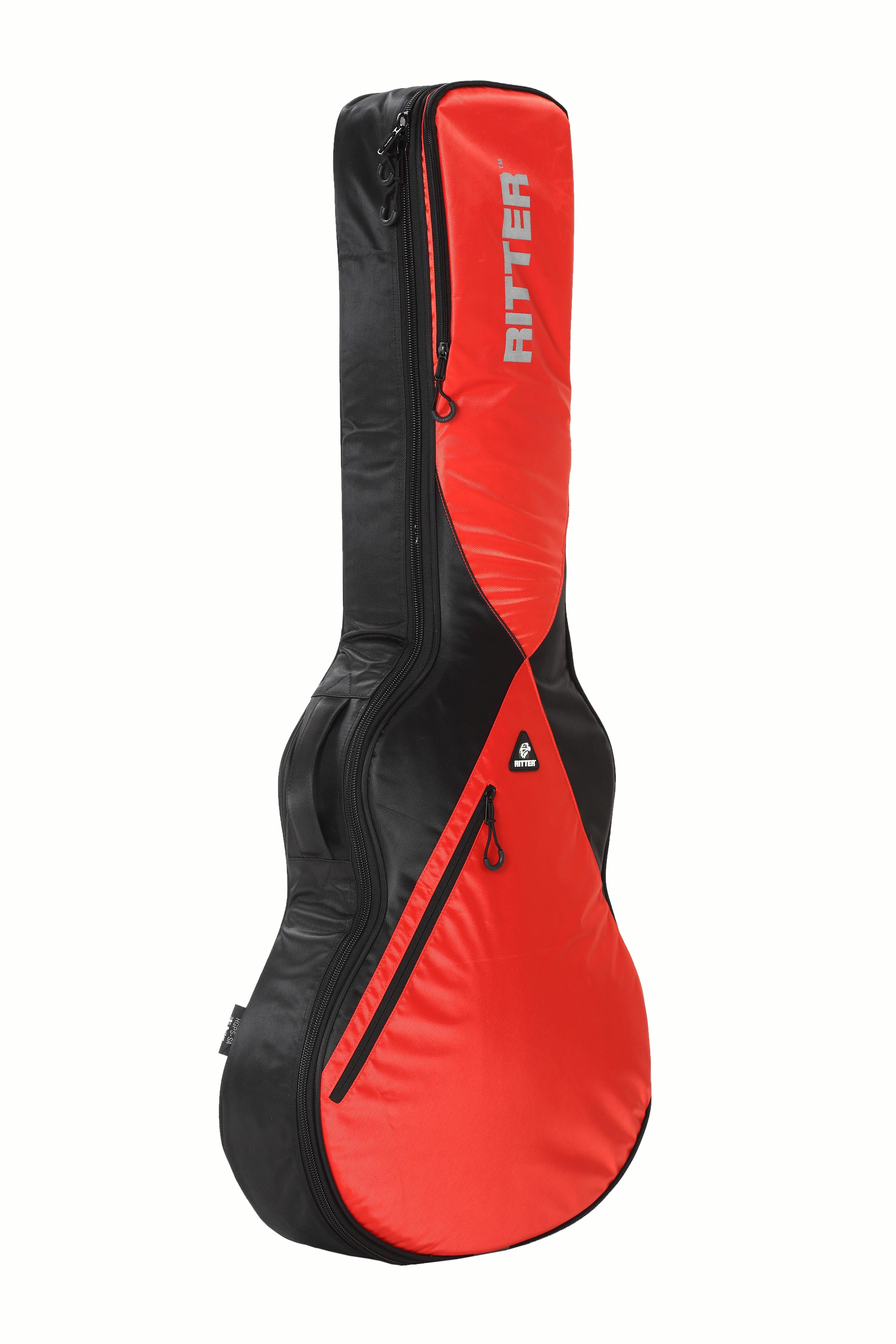 Ritter RGP5-SA/BRR 335 Style Guitar Bag - Black/Racing Red