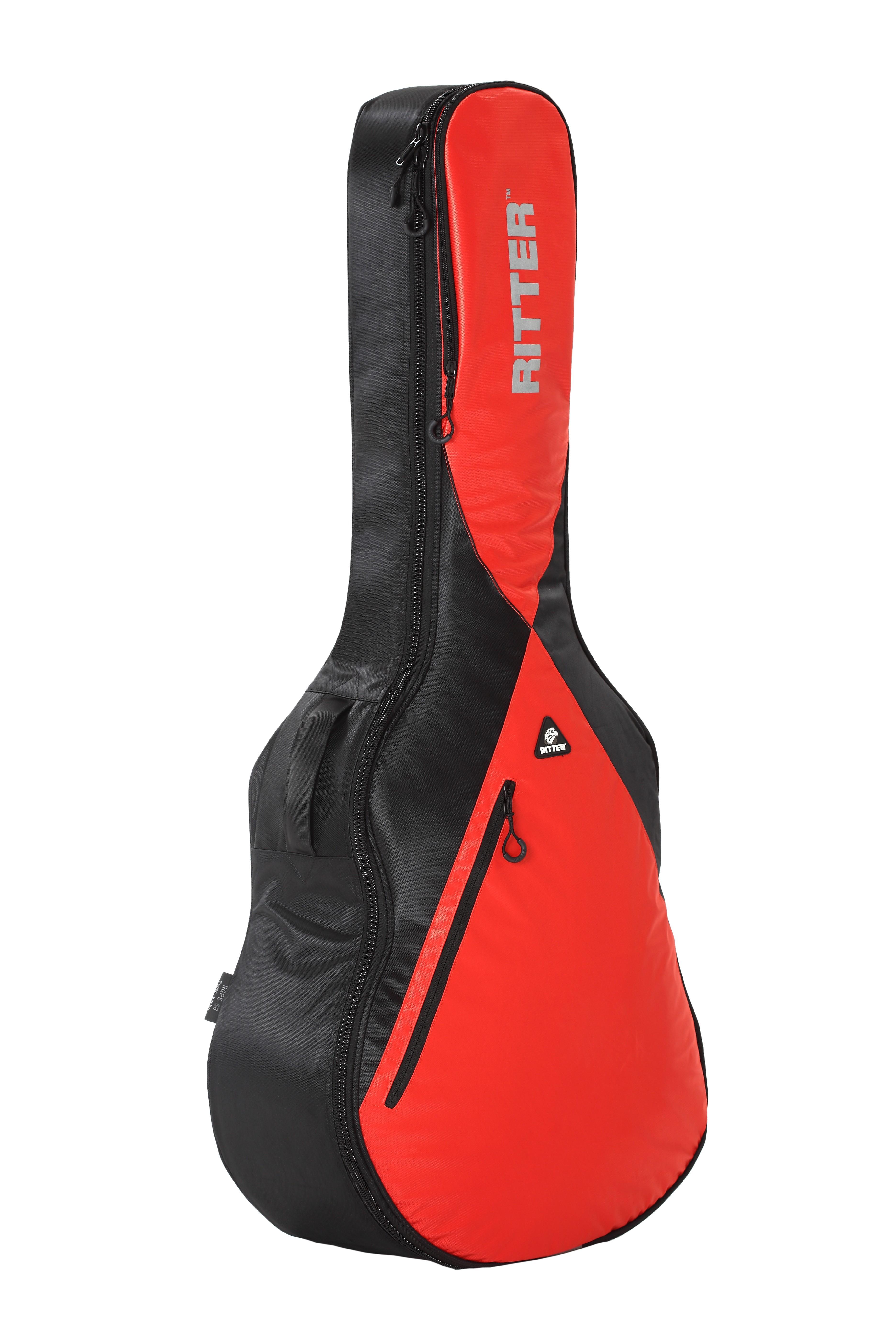 Ritter RGP5-SB/BRR Super Jumbo Acoustic Bag - Black/Racing Red