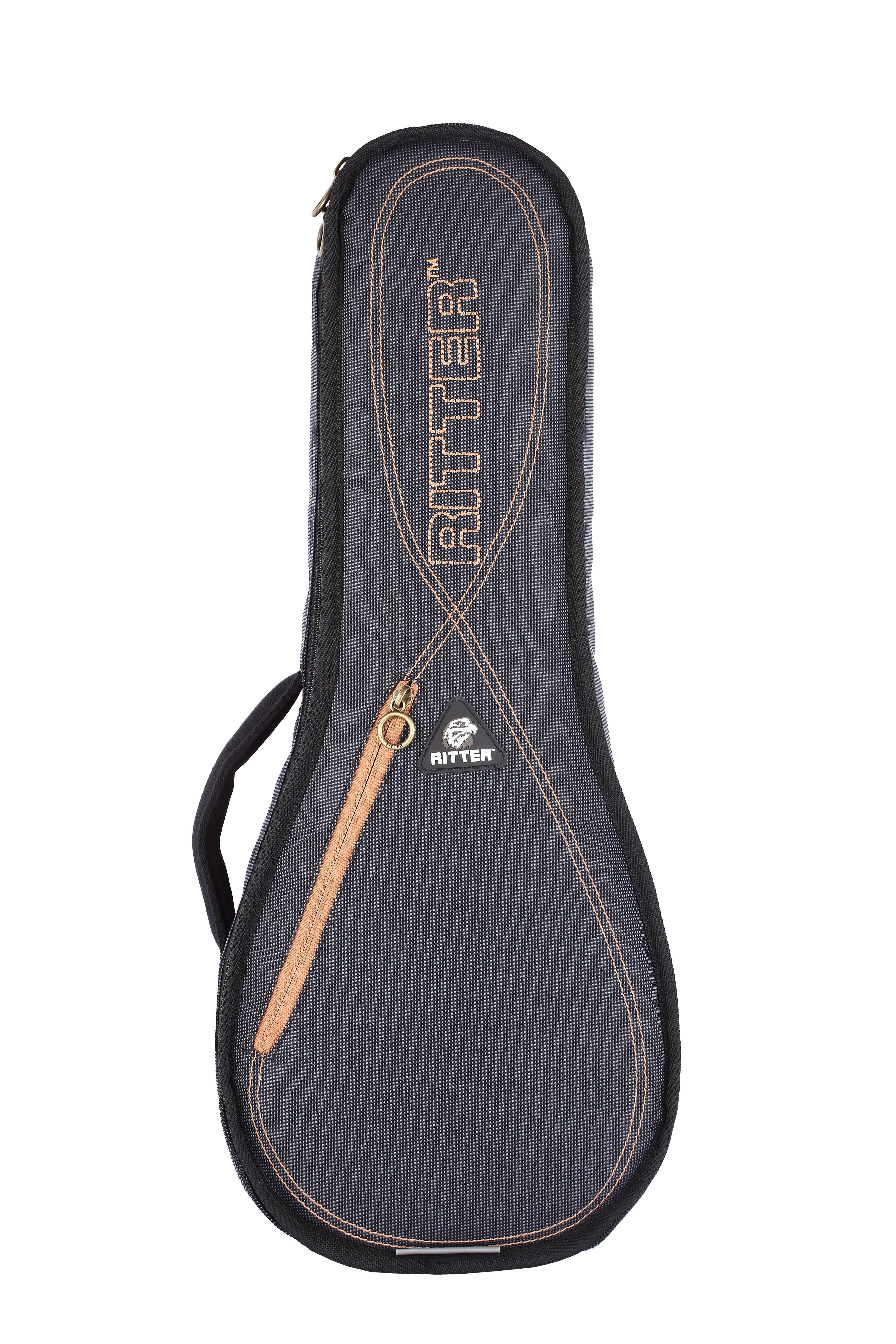 Ritter RGS3-UT/MGB Tenor Ukulele Bag - Misty Grey/Brown