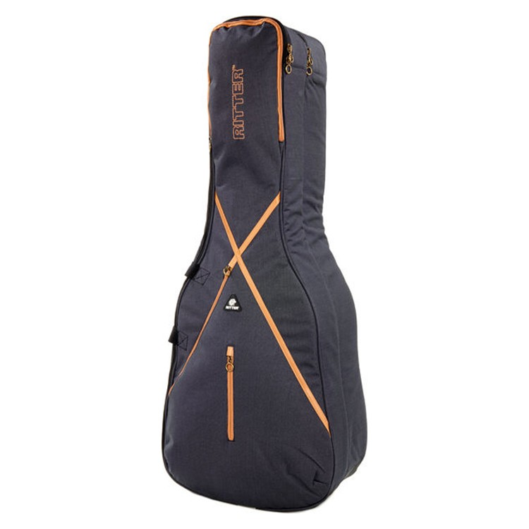 Ritter RGS7-DDE Double Dreadnought & Electric Guitar Bag - Misty Grey/Brown