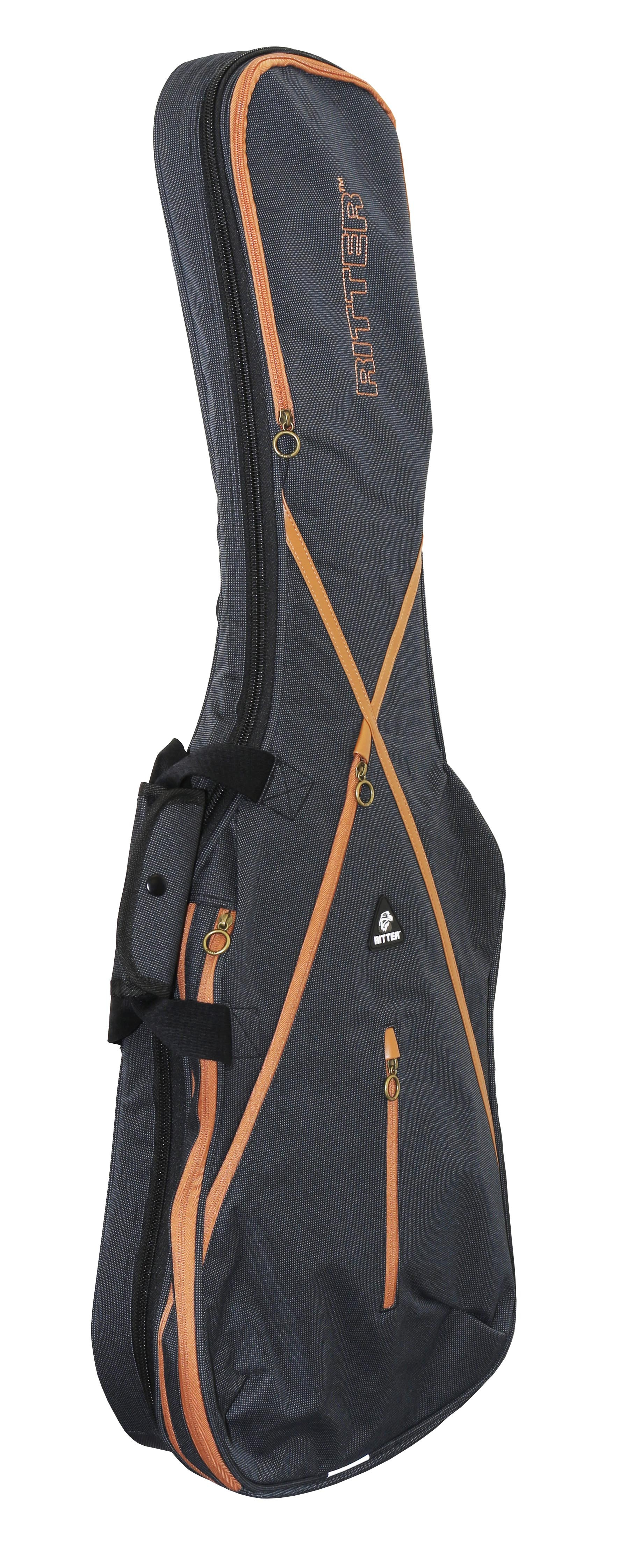 Ritter RGS7-EEP/MGB Electric Guitar Bag with Extra Pocket - Misty Grey/Brown