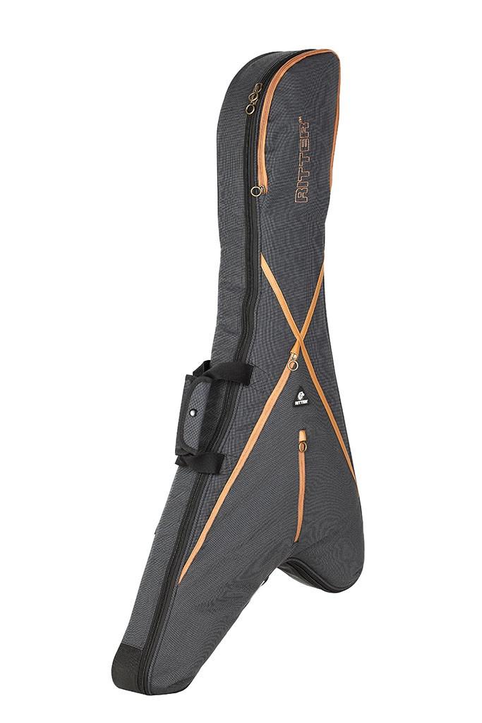Ritter RGS7-JR/MGB Rhoads V Style Guitar Bag - Misty Grey/Brown