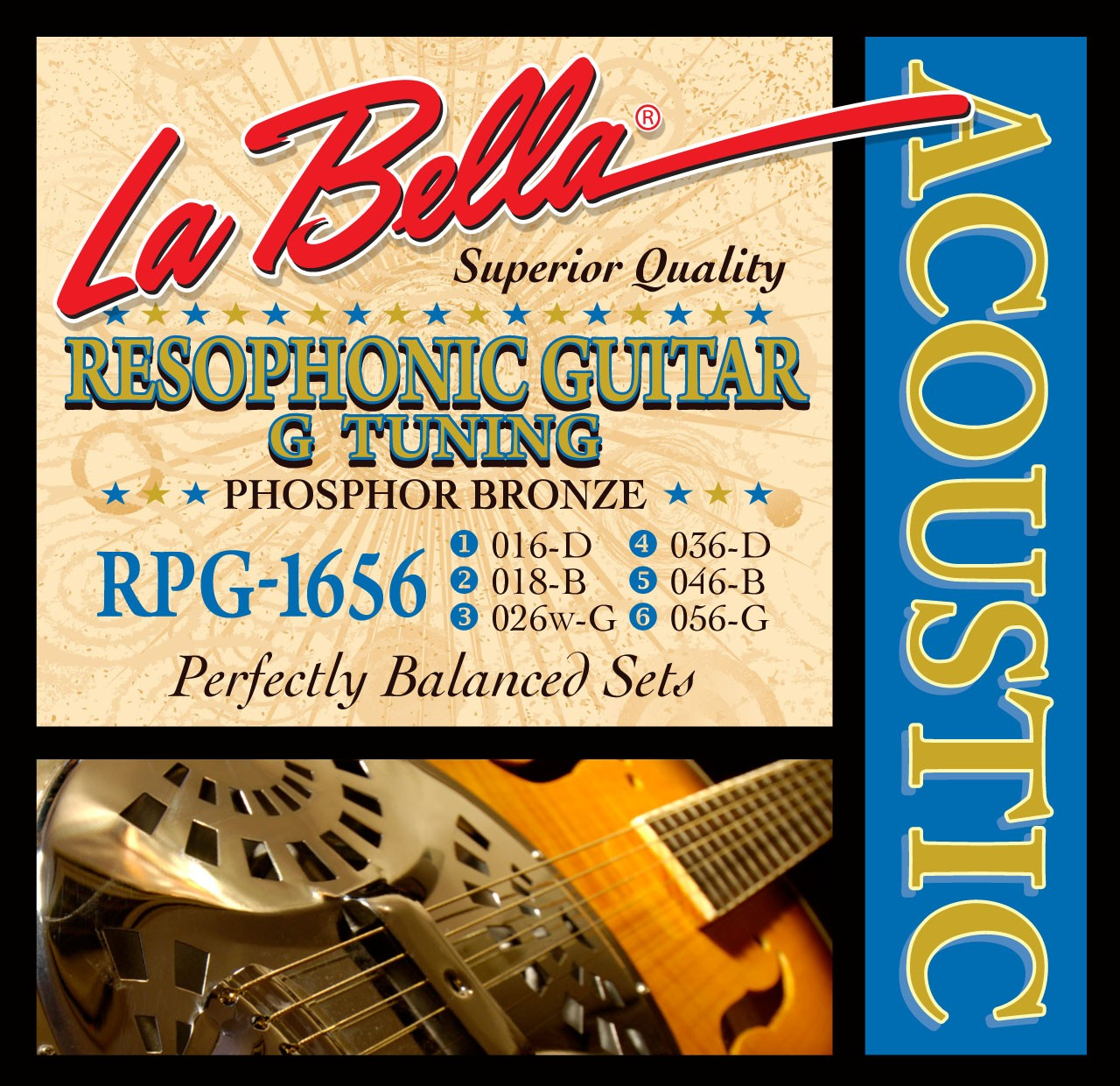 La Bella Resophonic Guitar Strings - Phosphor Bronze