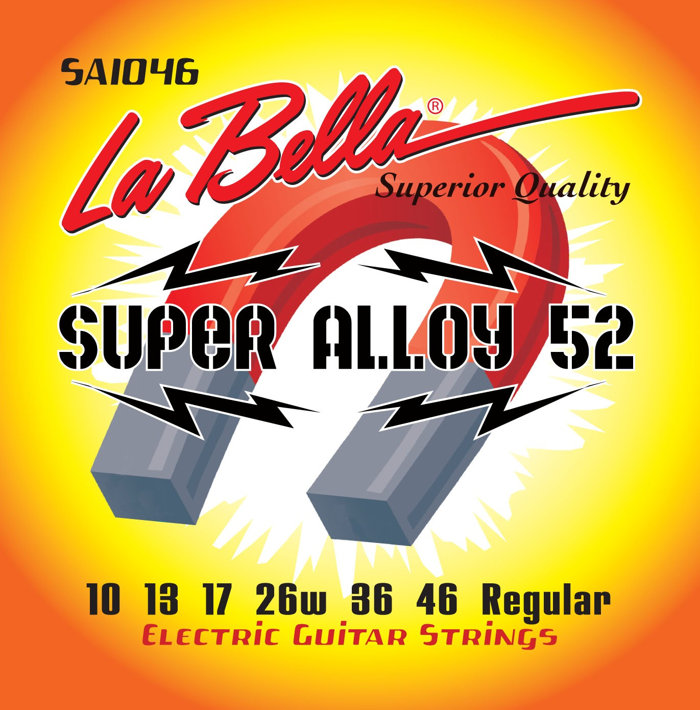 La Bella Electric Guitar Strings - Super Alloy 52