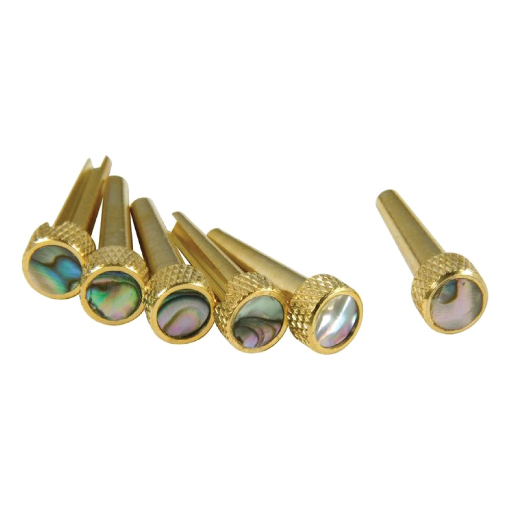 D'Andrea Abalone Brass Tone Pins