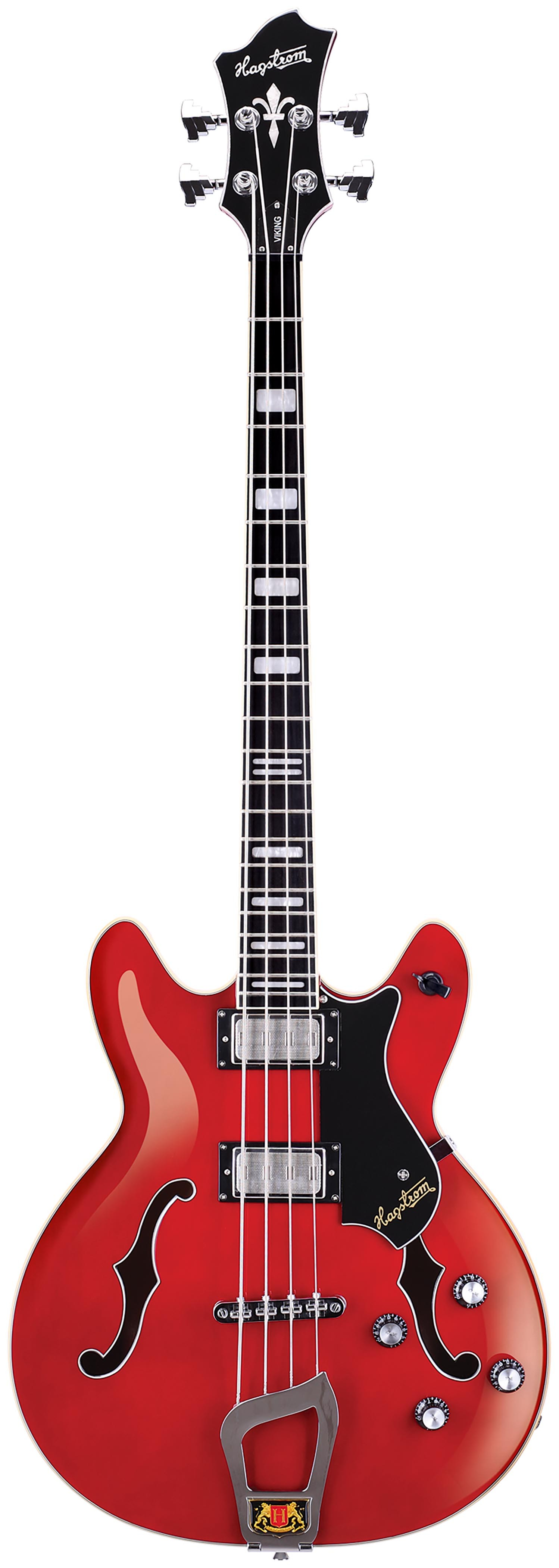 Hagstrom Viking Bass - Cherry Transparent