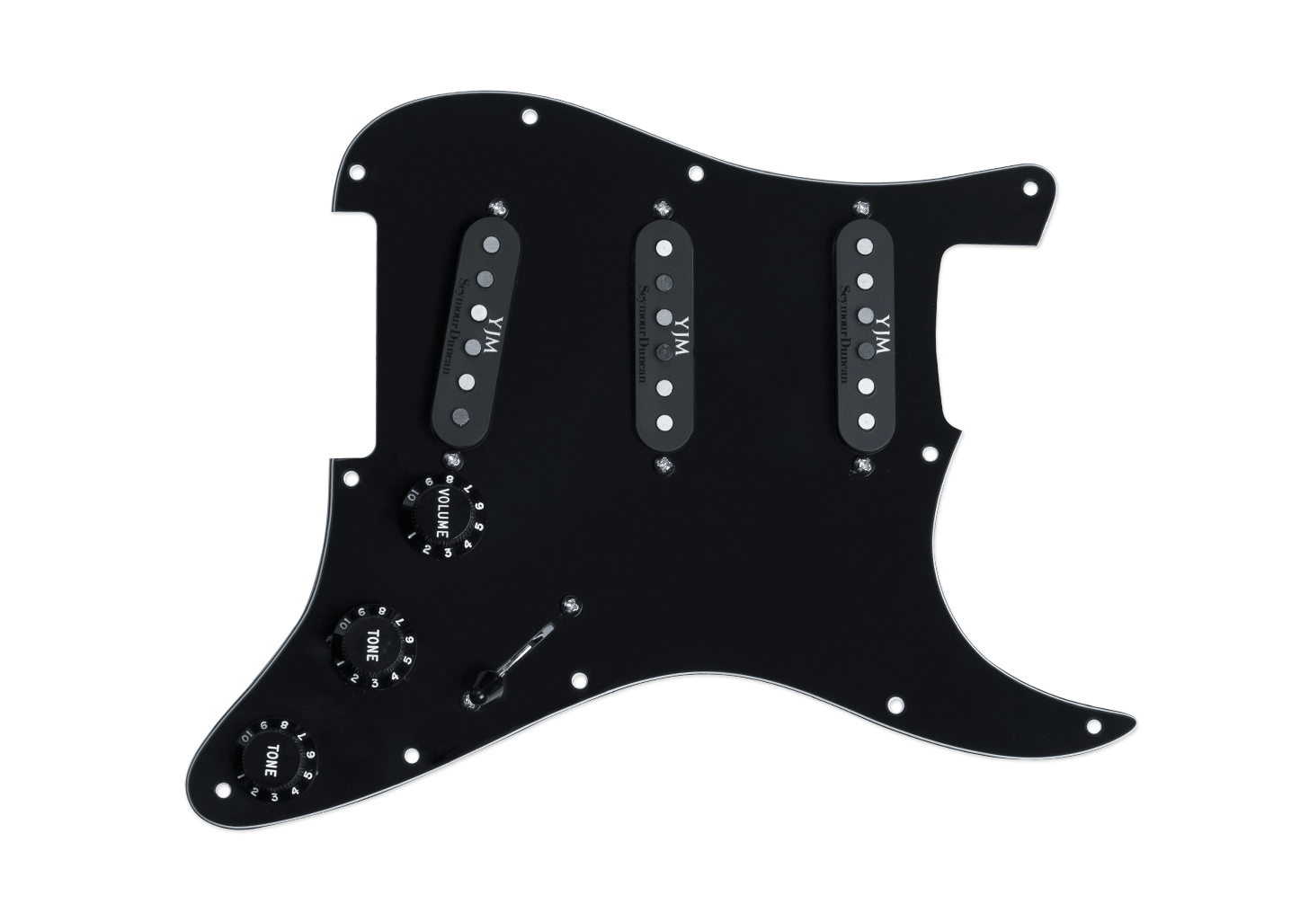 Seymour Duncan Yngwie Malmsteen YJM Fury Loaded Pickguard Black