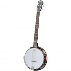 Adam Black BJ-03 6-String Banjo with Gigbag - Vintage Sunburst