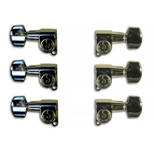 Rickenbacker Part 00525 - M6 Mini Machine Head Set Chrome