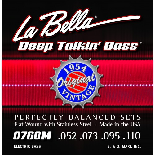 La Bella Bass Guitar Strings - Original 1954 Style Deep Talkin' Bass Series