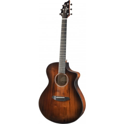 Breedlove Pursuit Exotic Concert Bourbon Burst CE - Myrtlewood/Myrtlewood