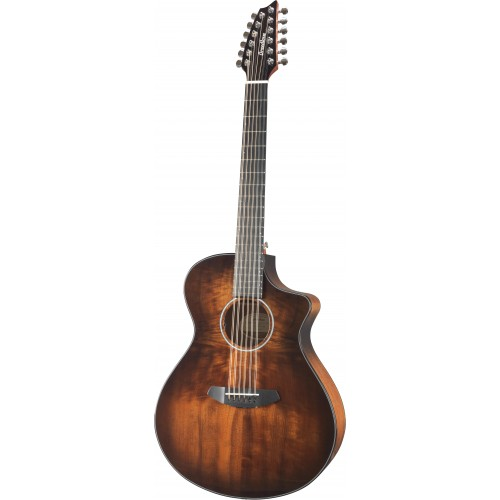 Breedlove Pursuit Exotic Concert Bourbon Burst 12-String CE - Myrtlewood/Myrtlewood