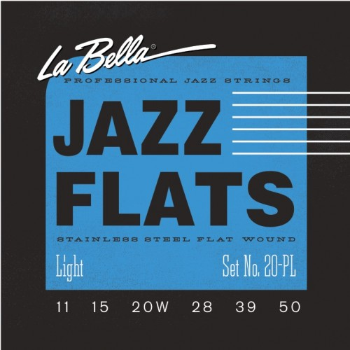 La Bella Electric Guitar Strings - Jazz Flats Series
