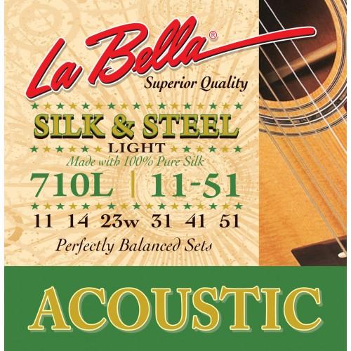 La Bella Acoustic Guitar Strings - Silk & Steel Series