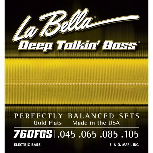 La Bella Bass Guitar Strings - Gold Flats Deep Talkin' Bass Series