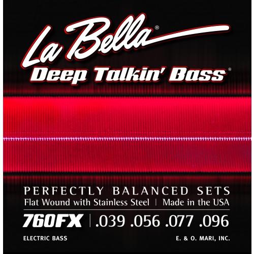 La Bella Bass Guitar Strings - Stainless Steel Flat Wound Deep Talkin' Bass Series