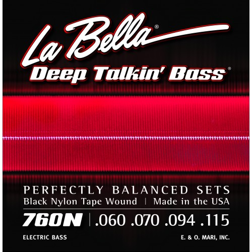 La Bella Bass Guitar Strings - Nylon Tape Wound
